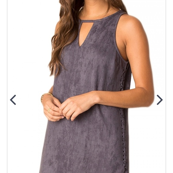 Dresses & Skirts - Suede Lace Up Dress